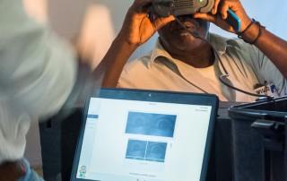Capturing iris image for nation identity