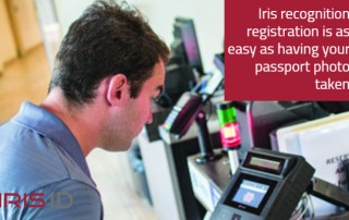 Photo showing how easy iris recognition technology is