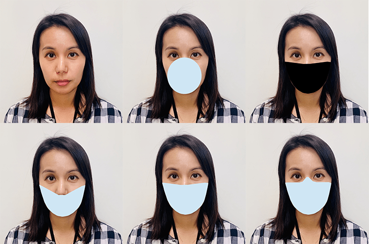 Facial recognition with masks