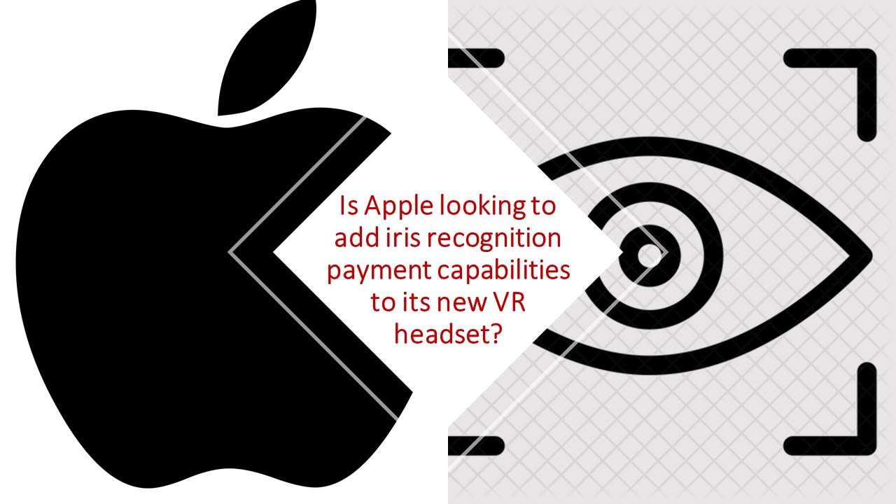 Apple logo and iris image